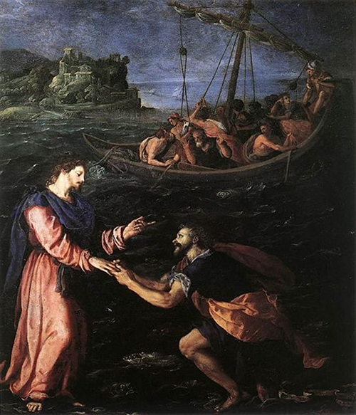 St. Peter Walking on Water Alessandro Allori