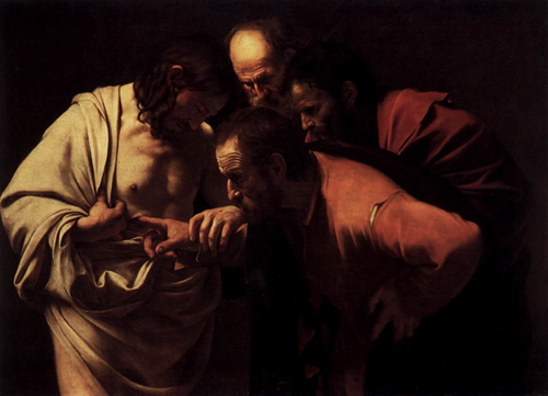 The Incredulity of St. Thomas Caravaggio