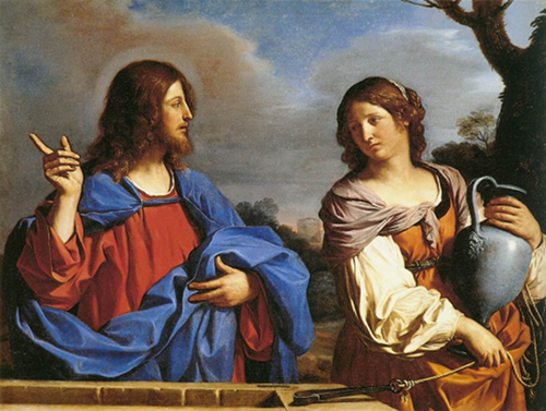 Jesus and the Samaritan Woman at the Well, by Guercino