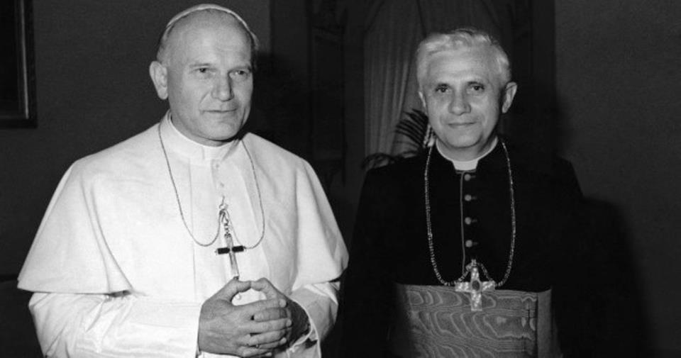 Pope John Paul II and then-Cardinal Ratzinger