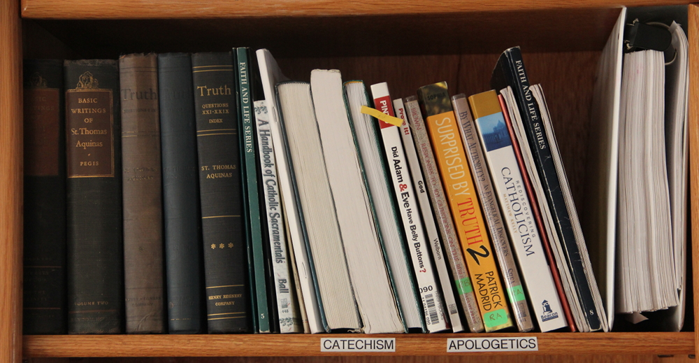 the Catechism and Apologetics shelf